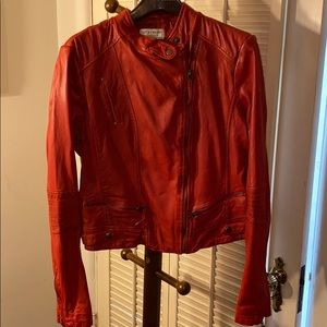 LUCKY RED LAMB LEATHER JACKET XL